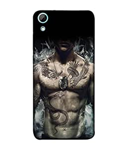 Fuson Designer Back Case Cover for HTC Desire 628 :: HTC Desire 628 Dual Sim (Bost art Tattoo Snake Dragon Muscle)