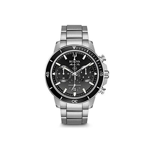 Bulova Marine Star de Reloj de Acero de los Hombres Chrono 96B272