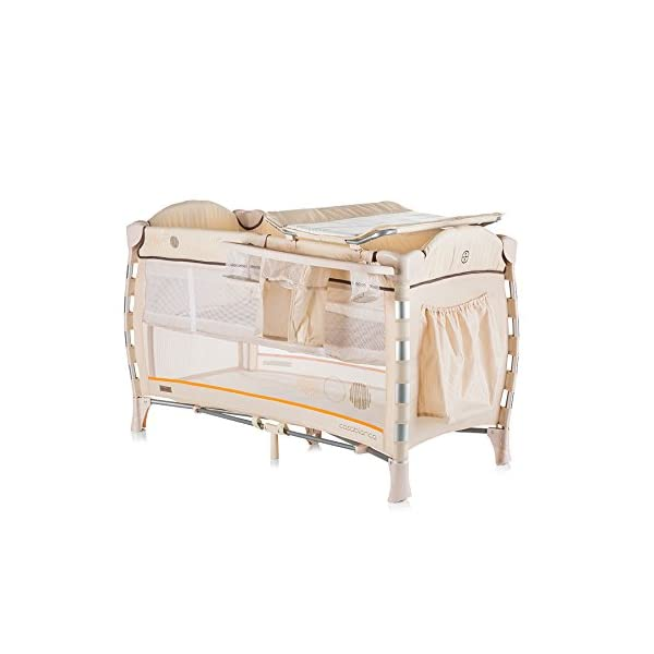 Chipolino Baby Playpen Casablanca Neo, Beige Chipolino Includes a soft luxurious changing mat Side entrance with zipper creates additional comfort for the child Practical side storage for diapers and other accessories 1