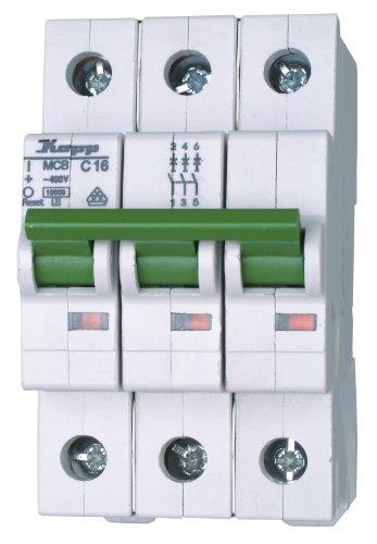 Ge Electric Circuit Breaker (Kopp 721631006 Green Electric Leitungsschutzschalter (MCB) 3-polig, 16 A)