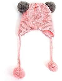 ODJOY-FAN-Autunno e inverno ABC lettera orecchio Baby più velluto Cachemire  - infantile invernale del bambino ha… 0de78a1a67cc