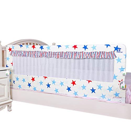 Bettgitter 1Pc Premium Fold Down Kleinkinder Bettgitter Extra Lange Baby Bettgitter mit verstärktem Anker Sicherheit für Cabrio Kinderbett, Kinder Doppel, Full Size Queen & King - Cabrio Kinderbett