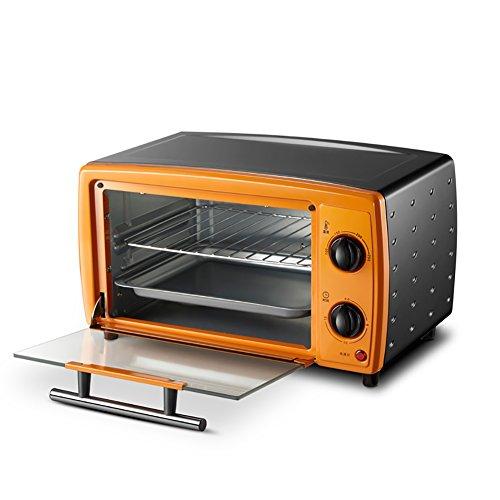 Elektrische Pfanne 12x12 (DULPLAY 12L Mini toasterofen,Besten konvektion,Enthält backen pfanne, Grillen-rack Arbeitsplatte ofen Poliertem edelstahl Toast Home Küche-A 36.9x29.6x21.4cm(15x12x8inch))
