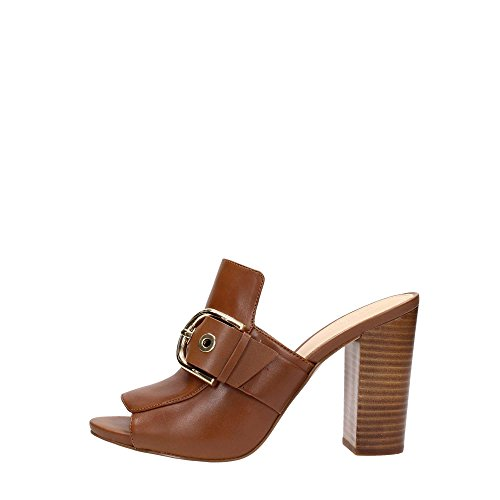 Brown leather sabot Brown