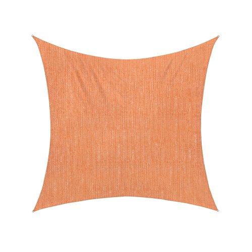 Jarolift Voile d'ombrage | Toile d'ombrage | Carré | Tissu respirant | 500 x 500 cm, orange