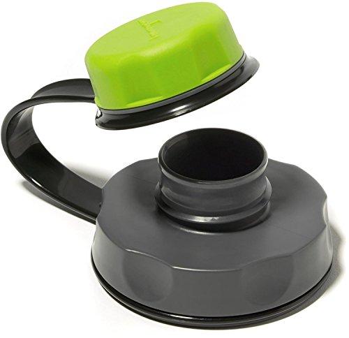 Humangear Universeller Flaschendeckel mit breiter Öffnung, Grün/Grau (Band Cap Army)