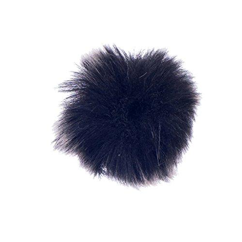Schwarzes Mikrofon Windschutzscheibe Für Revers Lavalier-Mikrofon Miniatur Fell-Windschutz 0.5cm