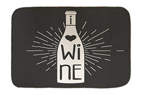 Preisvergleich Produktbild Fuß Hunde Matte Bett Plakat Motiv Wein bedruckt 40x60 cm Küchenmotiv