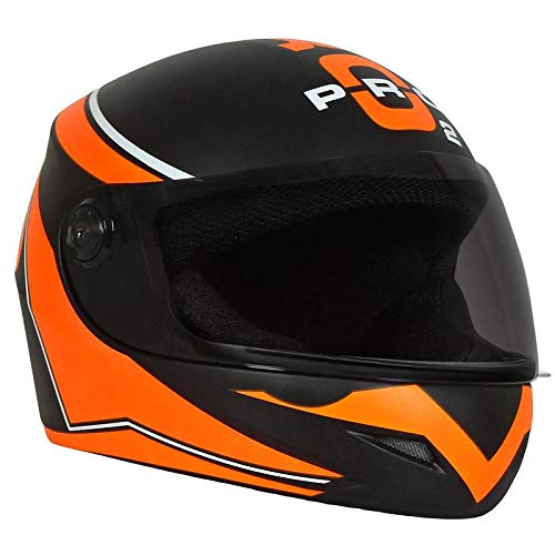 O2 Max Pro Series p3 Orange Graphics with Tinted Poly Carbonate Visor