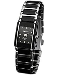 ufengke® imitación retro reloj de pulsera de línea cuadrada de ,reloj de pulsera rhinestone popular para las mujeres y negro