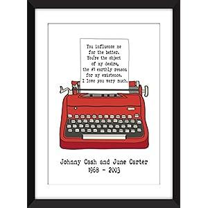 Johnny Cash Romantische Liebe Brief Ungerahmter Druck