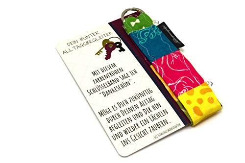 Danke für alles | Dankeschön sagen mit bunter Kleinigkeit - originelles Dankeschön Geschenk aus Karte und Schlüsselanhänger, das ein Lächeln ins Gesicht zaubert - Danke Geschenke für Lieblingsmenschen
