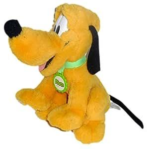 VINTAGE Peluche PLUTO Disney Mattel H 28 cm Médaille collier