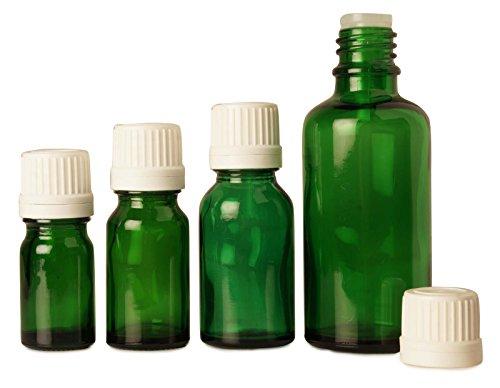 lot de 50 x 10 ml vides bouteilles de verre vert Tamper bouteilles de sérum bouchon euro-gouttes évidentes huiles essentielles gros boston bouteille ronde