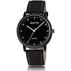 Man, quartz watch, fashion, personality, simplicity, PU leather, W0126