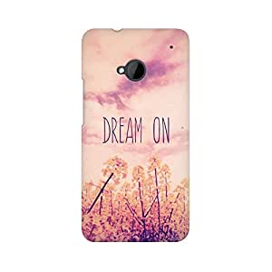 Mobicture Dream On Premium Printed High Quality Polycarbonate Hard Back Case Cover for HTC One M7 With Edge to Edge Printing
