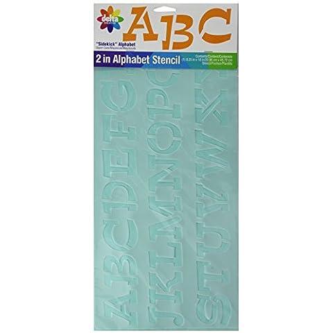Delta Creative 2-Inch Letters Stencil, 8-1/4 by 18-Inch, 956840018 Sidekick by Delta Creative