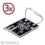 AZDelivery ⭐⭐⭐⭐⭐ 3 x KY-021 Magnet Schalter Mini Magnet Reed Modul Sensor für Arduino mit gratis eBook!