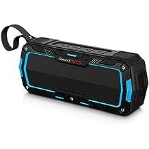 SoundPEATS Altavoces Altavoz Bluetooth Portátil Impermeable, Batería de 2000 mAh,10W de Potencia, POTENTE SONIDO con Mic, Aporta Manos Libres para correr y Exterior, 10Horas Larga Duración de La Batería (P3, Azul)
