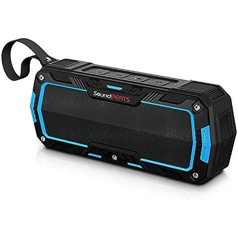 SoundPEATS Altavoces Altavoz Bluetooth Portátil Impermeable, Batería de 2000 mAh,10W de Potencia, POTENTE SONIDO con Mic, Aporta Manos Libres para correr y Exterior, 10Horas Larga Duración de La Batería (P3,