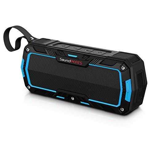SoundPEATS-Altavoces-Altavoz-Bluetooth-Porttil-Impermeable-Batera-de-2000-mAh10W-de-Potencia-POTENTE-SONIDO-con-Mic-Aporta-Manos-Libres-para-correr-y-Exterior-10Horas-Larga-Duracin-de-La-Batera