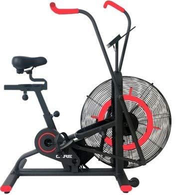 CARE FITNESS - Heimtrainer CT-150 - Air Bike - bewegliche Griffe - für Arbeit Simultaner Unter- und Oberkörper - bequemer Sattel - Heimtrainer Care mit Luftrad