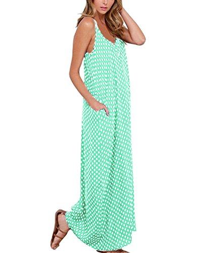 ZANZEA Damen Blusen Kleid Grün