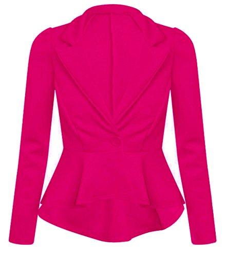 Nouveaux Femmes Grande Taille Taille vrille veste de blazer 36-52 Cerise
