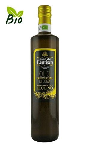 0,75 litri - olio extravergine di oliva biologico monovarietale leccino - 100% italiano - olio evo bio fruttato gusto delicato
