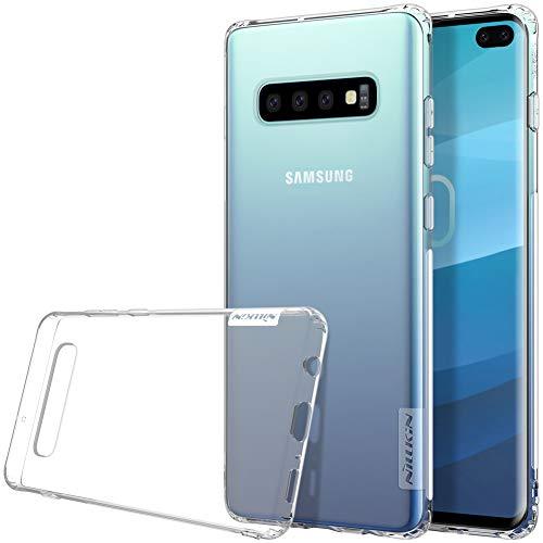 Nillkin Nature - Funda Compatible con Samsung Galaxy S10 Plus Carcasa de Silicona [Antideslizante] Bumper de Gel TPU [Ultra Fina] Clear View - Transparente