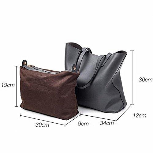 LI&HI Damen fashion vintage elegant Mikrofaser PU Leder Clutch Handtaschen Schulterbeutel Abendtaschen Blau