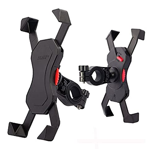 Bike Phone Holder Mount Bicycle Handlebar Motorcycle Holder Cradle with 360 Rotate for 3.5 to 6.6 Inch Smart Phone