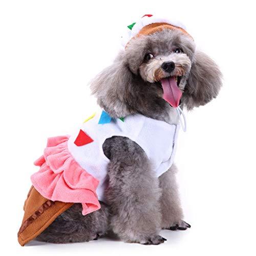 NYJ Weihnachten Hundebekleidung, Geschenk Katze Hund Clown Dress Up Kostüm Woolen Jacke Overall Puppy Kleidung (größe : L)