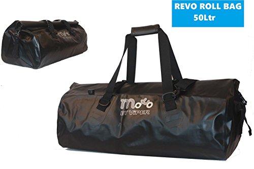 Viper Revo Pro Wasserdicht Street Cruising Touring Gepäck Roll Motorrad Tasche (50 Liter) - Schwarz - One -
