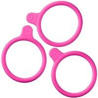 DURAN 292432867 Anillas Marcadas en Silicona, para GL45 DURAN Frascos para Laboratorio, rosa, 20 unidades