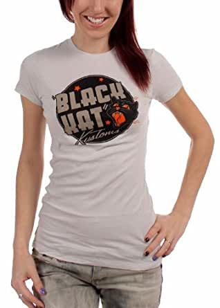 Black Kat Custom - Black Kat Show Girls S/S T-Shirt In Grey, Large, Grey