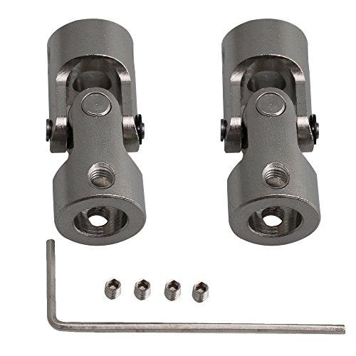 Yibuy Lenkung Drehbar Stahl Motor Gelenk Kupplungen für Robot, 2Pieces 6mm-8mm