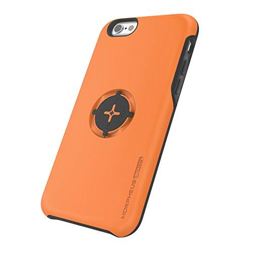 MORPHEUS LABS M4s Case für Apple iPhone 6/6s, Schutzhülle für iPhone 6/6s, Hülle passend für alle M4s Halterungen / Mount, Case mit patentiertem magnetischem Rotations-Schnell-Verschluss, orange