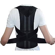 Banda de corrección de postura, ajustable, Corrector de postura, para los hombres y las mujeres, Corrección de hombro, cinturón, cinturón de soporte, L