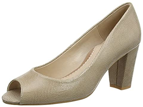 Van Dal Women Lassi Open-Toe Heels, Beige (Powder Reptile), 6 UK 39 EU