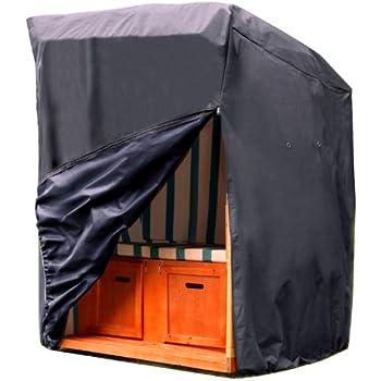 schutzh lle h lle abdeckung schwer f r strandkorb anthrazit. Black Bedroom Furniture Sets. Home Design Ideas