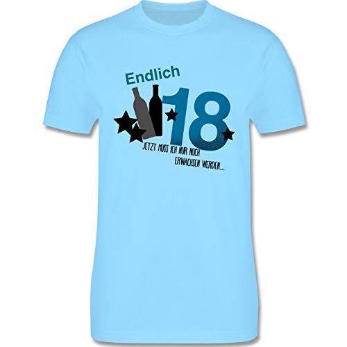 Geburtstag - Endlich 18_Blau - Herren Premium T-Shirt Hellblau