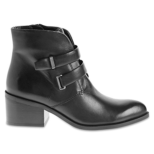 Marks & Spencer M&S Collection T027228 Leather Block Heel Two Strap Ankle...