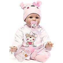 Reborn Baby DOLLS, triplespark calidad muñecas bebé 22suave (vinilo silicona realista para regalos/juguetes, edad 3+, EN71