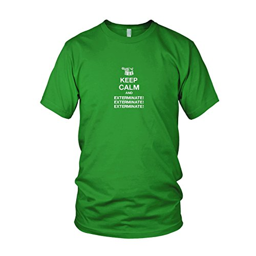 Keep Calm and Exterminate - Herren T-Shirt Grün