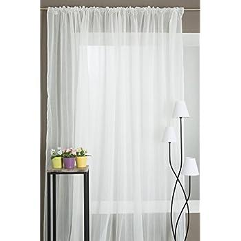 gardinen store voile mit kr uselband 250x300 wei. Black Bedroom Furniture Sets. Home Design Ideas