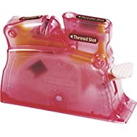 Clover Enhebrador de Mesa, Plástico, Rosa, 14.6x11x2.8 cm