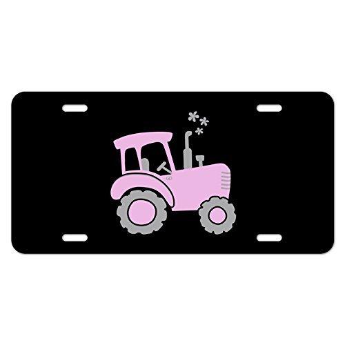 Funny License Plate Auto Tag Pink Farm Traktor Motorrad Metall Vanity Schild