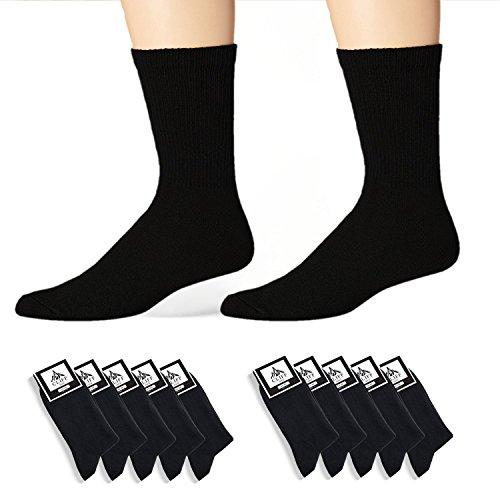CLIFF EDGE hochwertige Socken für Business und Freizeit | Farbe schwarz | 5 oder 10 Paar
