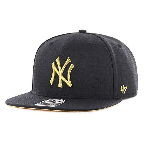 47Brand Snapback Cap NY Yankees B-MTLVS17WBP-BK Schwarz, Size:ONE Size (47brand Snapback)